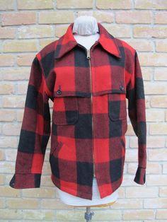 0b66e4faaeb Vintage WOOLRICH Wool Mackinaw 4-Pocket Jacket