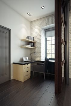 Loft apartment (3d modeling and visualization) by Curly studio , via Behance
