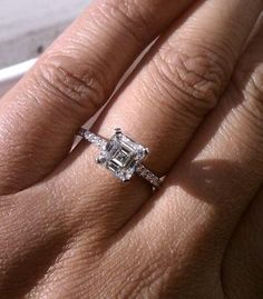A Perfect 3CT Asscher Cut Russian Lab Diamond Engagement Ring - Joy of London Jewels