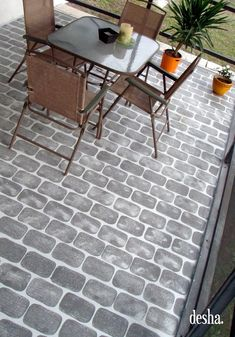 Fake Brick Patio Floor, so easy to do !mycrazywedding Fake Brick Patio Floor, so easy to do ! Decking on the home is the most remarkable interior architectural features.