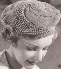 Vintage Popcorn Beret & Purse Handarbeiten ☼ Crafts ☼ Labores ✿❀.•°LaVidaColorá°•.❀✿ http://la-vida-colora.joomla.com