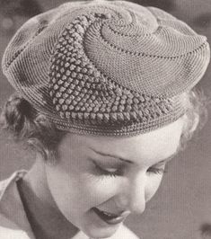 Vintage Popcorn Beret & Purse Crochet Patterns