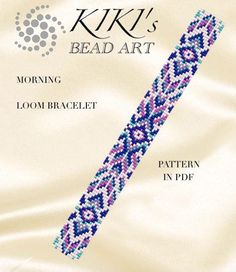 Bead loom pattern - Morning - ethnic inspired LOOM bracelet pattern in PDF instant download
