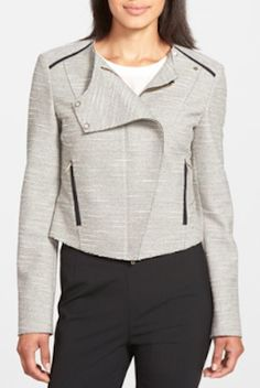 cute textured moto jacket