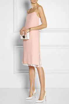 Adam Lippes Fringed crepe dress NET-A-PORTER.COM