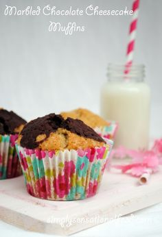 simply.food: Marbled Chocolate Cheesecake Muffins