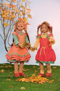 Annette Himstedt Dolls - 2008 Seasons Kinder ~ Maliwi & Tivi represent Autumn