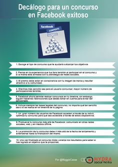 Decálogo para un concurso en Facebook exitoso #Infografía
