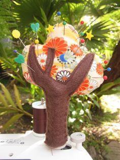 Japanese Tree (spool cozy) Pincushion - 30 Days of Creativity, Day 1 @createstuff #30daysofcreativity
