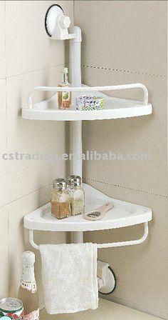 Estantes del cuarto de ba o en pinterest estantes de for Estantes vidrio bano