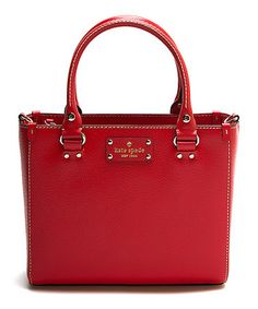 Another great find on #zulily! Lacquer Red Small Quinn Wellesley Leather Satchel #zulilyfinds