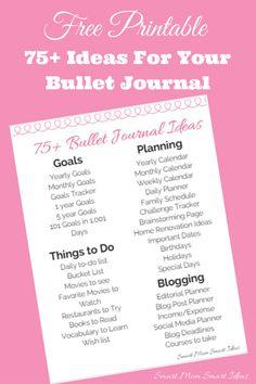 Bullet Journal Ideas | 75+ Ideas for Your Bullet Journal |