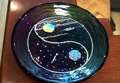 Fused glass bowl - Yin Yang Bowl, by Glitz & Grandeur