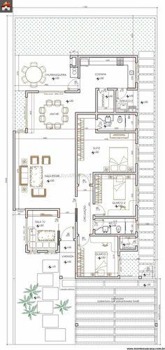 * Casa 3 Quartos - 141.34m² (In loc de tv room - scara pentru acces etaj)