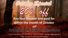 October Special at Bridging the Gap Promotions: Promo Packages & Sign-up