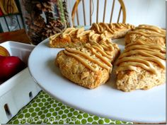 Apple Scones with Caramel Frosting with excellent step-by-step pictures