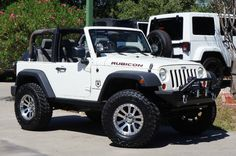 2007 White Rubicon with Half Doors. Just SOLD.Let us Build One for You! Two Door Jeep Wrangler, 2 Door Jeep, Jeep Wrangler Rubicon, Jeep Tj, Jeep Wrangler Unlimited, Jeep Truck, Jeep Wranglers, Jeep Half Doors, Auto Jeep