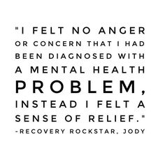 Eye opening quote from Recovery Rockstar, Jody. #healing #mentalhealth #hope #inspiration