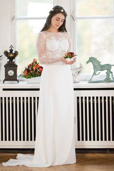 Spitze  Standesamtkleid Angélique von saray Brautmoden
