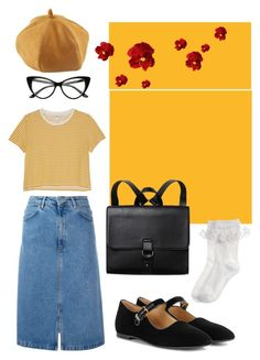 """""""vintage feels"""" by ksasya on Polyvore featuring M.i.h Jeans, Monki, The Row, Monsoon and vintage"""
