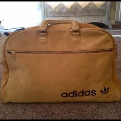 Vintage Adidas Suede Gym Bag Little worn but great gym bag. Slight marking on the corners and up top. One large zipper pocket in the front and compartments in the interior. Offers welcome! Adidas Bags Travel Bags