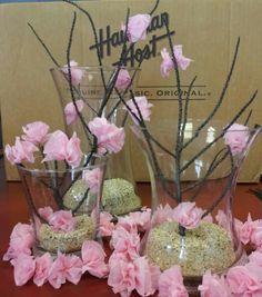 Cherry Blossoms centerpieces