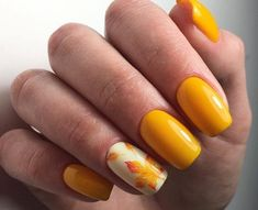 Yellow Nails For Fall Nail Art By Beautybigbang - Nailpolis . Yellow Nails For Fall Nail Art By Be Nail Art Design Gallery, Best Nail Art Designs, Short Nail Designs, Fall Nail Designs, Acrylic Nail Designs, Acrylic Nails, Coffin Nails, Autumn Nails, Fall Nail Art