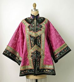 Non-Western Historical Fashion - Coat Late century China Vintage Dresses, Vintage Outfits, Vintage Fashion, Ethnic Fashion, Asian Fashion, Costume Chinoise, Mode Boho, Chinese Clothing, Chinese Culture