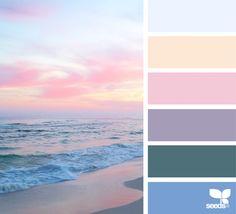The Queen of Color: Jessica Colaluca of Design Seeds Colour Pallette, Colour Schemes, Color Combos, Beachy Colors, Pastel Colors, Color Balance, Design Seeds, Paint Colors For Home, Colour Board
