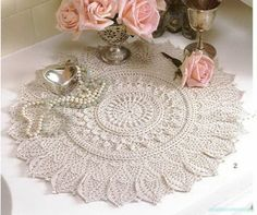 "Photo from album ""Салфетка Momentous Occasions из Альбома Ultimate Doilies"" on Yandex. Crochet Doily Patterns, Crochet Art, Crochet Home, Thread Crochet, Crochet Doilies, Crocheted Lace, Linens And Lace, Lace Doilies, Neutral Colors"