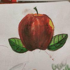 """""""Suyai ta acordas de este tattoo bue ahí vamos... #sketch #painting #draw #watercolorpencils #watercolorpencil #manzana #coverup #something"""""""