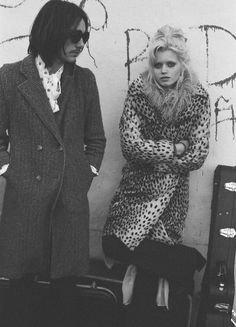 Abbey Lee Kershaw leopard print coat with Amy Winehouse hair...hungover x