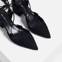 LACE-UP POINTED HIGH HEEL SHOES-High-heels-SHOES-WOMAN | ZARA United States