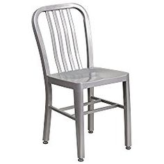 Flash Furniture Silver Metal Indoor-Outdoor Chair 1-unit