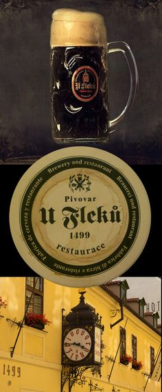 "Famous brewery and restaurant ""U Fleků"", founded 1499 with special dark lager beer, Prague, Czechia #Czechia #CzechBeer #beer"