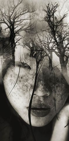 DREAMY PORTRAIT SERIES BY ANTONIO MORA #thewindofinspiration #inspiration #art #collage #collages #photoart #photography #doubleexposure
