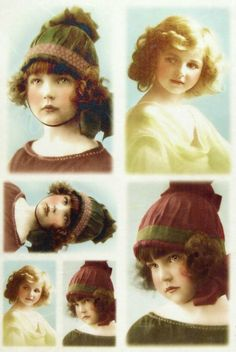 Ricepaper Decoupage paper, Scrapbooking Sheets Old Pictures Girl with Cap