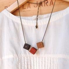 Trio  Wooden jewelry  Eco friendly jewelry  Wood. by KotomkaCraft, ¥2800