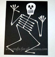 squelette en coton tiges