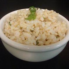 Copycat Chipotle(R) Cilantro-Lime Brown Rice Allrecipes.com