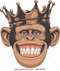 Crowned orangutan, Cartoon Comics, Animal Illustration, Cartoon Animals PNG and Vector Unicornios Wallpaper, Cartoon Wallpaper, Illustration Singe, Monkey Art, Art Craft Store, Orangutan, Cartoon Art, Vector Art, Vector Graphics