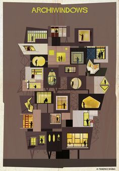 Archiwindow, the latest series by the Italian architect and graphic designer Federico Babina features 25 architects and studios.
