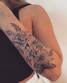 Half Sleeve Tattoos Forearm, Forarm Tattoos, Anklet Tattoos, Girl Arm Tattoos, Tattoos For Women Half Sleeve, Shoulder Tattoos For Women, Dainty Tattoos, Cute Tattoos, Body Art Tattoos