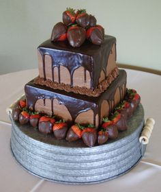 Grooms cake with chocolate glaze | ... cakes tags chocolate wedding cake groom cake telford wedding tn
