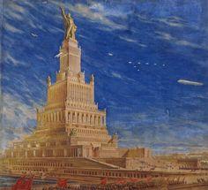 El palacio de los Soviets (Moscú, 1933) fue un intento de construir el edificio más alto del mundo y, de paso convertirlo en el aeropuerto que el Empire State no pudo ser.