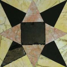 Tiles said to come from the Biblical Temple arranged as an eight-pointed star