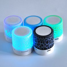 GBP - Led Mini Bluetooth Speaker Wireless Stereo Tf Music Player Usb Portable Up Radios, Mini Bluetooth Speaker, Portable Speakers, Small Speakers, Subwoofer Box, Mp3 Music Player, Nail Art Kit, Waterproof Speaker, Iphone Accessories