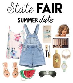 """Summer Style Guide #8"" by koolkatefashions ❤ liked on Polyvore featuring Dorothy Perkins, Ancient Greek Sandals, Ray-Ban, Sun Bum, Carolee, Kate Spade, statefair and summerdate"