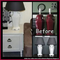 Dollar Store Crafter: Use Spray Paint To Up Date A Pair Of Thrift Store ...