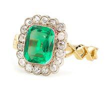 Sass & Envy: Emerald & Diamond Ring